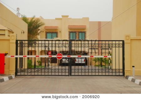No Entry Electronic Gate