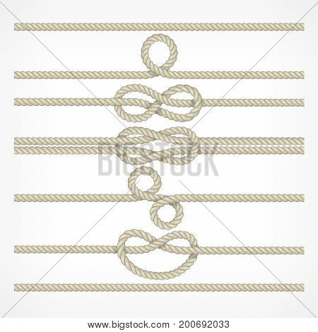 Knots And Loops On Ropes