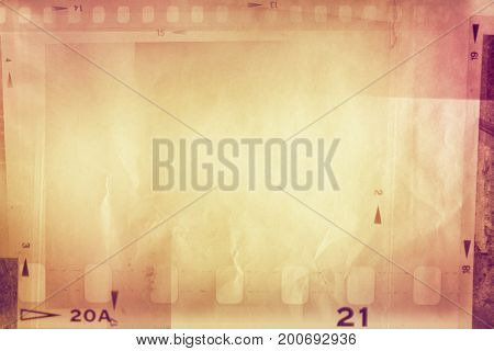 Film negative frame strips background