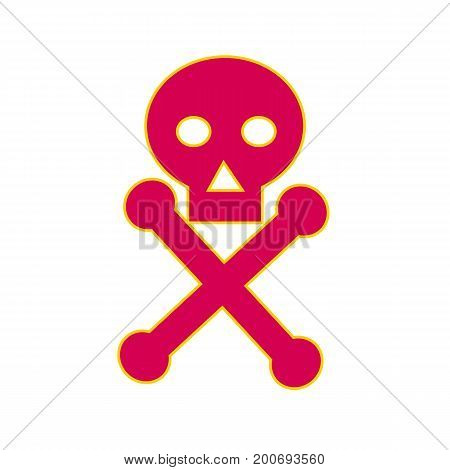 Illustration of a Poison Symbol icon the skull-and-crossbones symbol consisting of a human skull and two bones crossed together behind the skull generally used as a warning of danger particularly in regard to poisonous substances