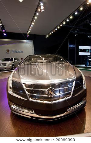 Moscow, Russia - August 25:  Grey Concept Car Cadillac Converj At Moscow International Exhibition In