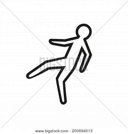 Simple icon of chalk outline of victim. Crime scene, murder, investigation. Police concept. Can be used for topics like crime, emergency services, accidents