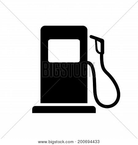 Simple icon of gas pump. Gas station, petrol station, convenience store. Infrastructure concept. Can be used for information boards, road signs and web pictograms