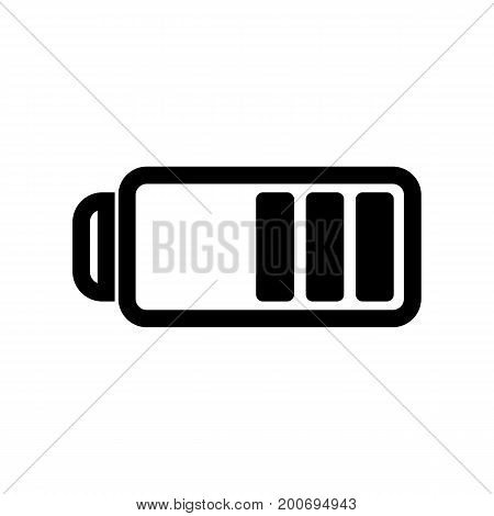 Simple icon of low battery sign. Mp3 player, mobile phone, photo camera. Music concept. Can be used for internet and mobile applications and web pictograms