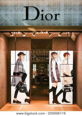 Bangkok Thailand - July 18: Christian Dior Shop At Siam Paragon on July 18 2017. Dior Is Famous French Luxury Brand Existing Since 1946