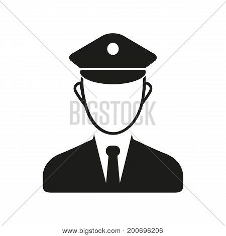 Simple icon of policeman. Police post, police office, steward. Police concept. Can be used for topics like public services, transportation, public order