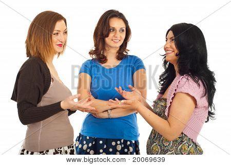 Happy Women Having Conversation