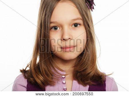 little girl with cute smile