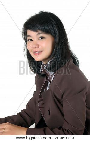 Portrait Asian Young Secretary's Office