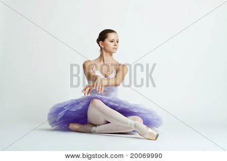 Ballet Dancer With Purple Tutu