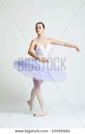 Beautiful Ballet Dancer Practicing
