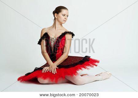 Beautiful Ballerina Sitting