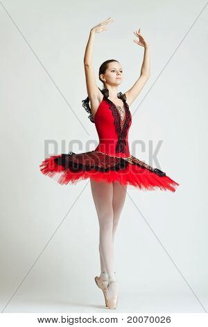 Young Ballet Dancer Wearing Tutu