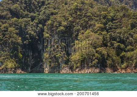 The beautiful lake at Cheow Lan Dam Ratchaprapha Dam, Khao Sok National Park, Thailand.