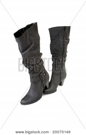Two Female Black Boots