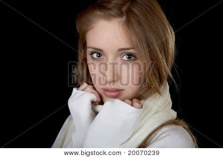 The Girl In  White Sweater