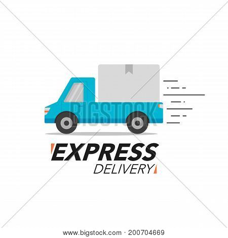 Express Delivery Icon Concept. Pickup Service, Order, Worldwide Shipping.