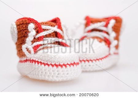 Crocheted Booties For A Boy