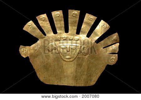 Gold Inca Mask