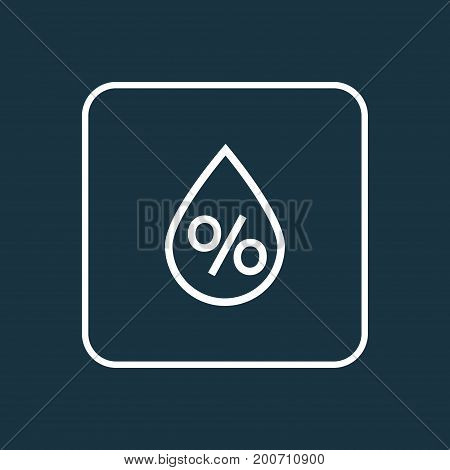 Premium Quality Isolated Drop Element In Trendy Style.  Humidity Outline Symbol.