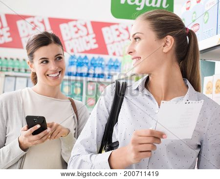 Friends Doing Grocery Shopping
