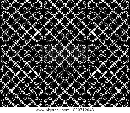 Seamless pattern of chains. Vector background illustration.
