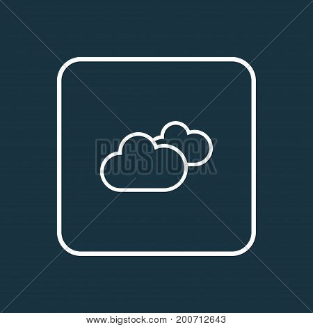 Premium Quality Isolated Overcast Element In Trendy Style.  Cloudy Sky Outline Symbol.