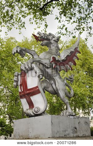 Winged Horse Sculpture. London. UK