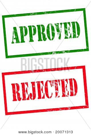 approved and rejected