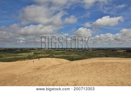 View from Rubjerg Knude high sand dune at the west coast of Denmark.