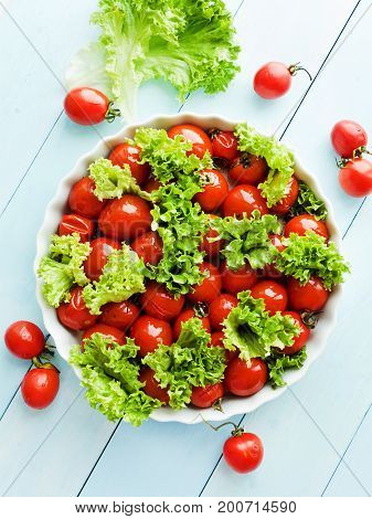Baked Tomatoes And Greens