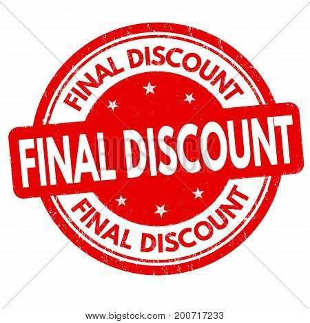 Final Discount Sign Or Stamp