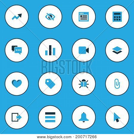 User Colorful Icons Set. Collection Of Schedule, Conceal, Note And Other Elements