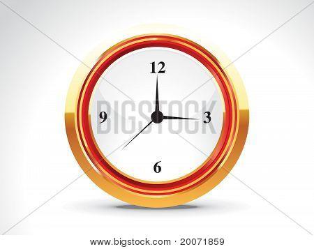 Abstract Shiny Golden Clock