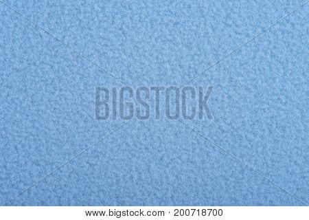 Blue fleece soft background of plush fabric