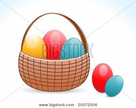 Abstract Colorful Shiny Eggs