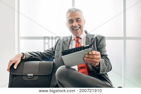 Businessman In The Waiting Room