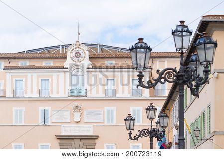 Palazzo Pontificio in castel gandolfo the summer residence of the pope