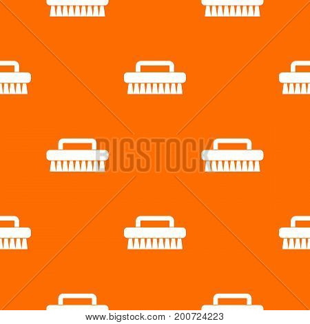 Cleaning brush pattern repeat seamless in orange color for any design. Vector geometric illustration