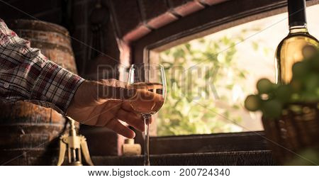 Wine Expert Tasting A Glass Of Wine