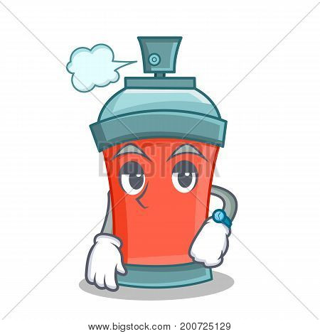Waiting aerosol spray can character cartoon vector illustration
