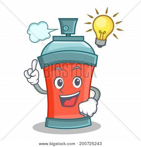 Have an idea aerosol spray can character cartoon vector illustration