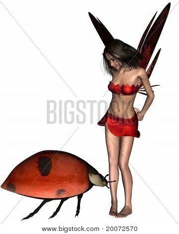 Red Ladybird Fairy -