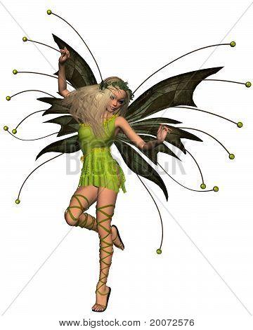 Spring Fairy in Green Dress -