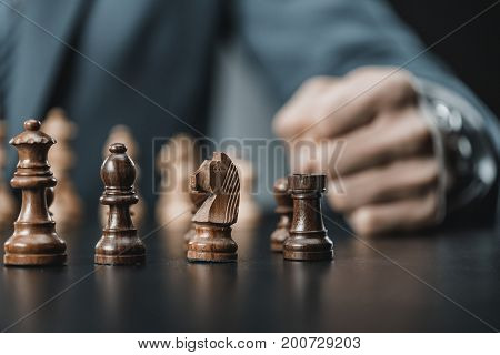 Chess Figures On Table