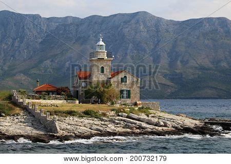 Lighthouse on the Hvar island in Croatia