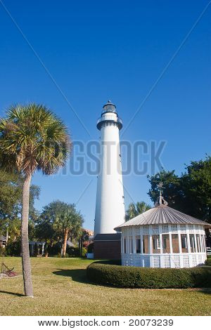 Palm Tree Lighthouse And Gazebo