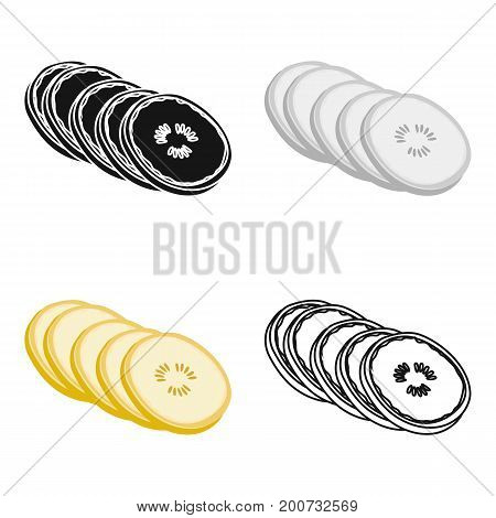 Banana, sweet fruit. A fruit single icon in cartoon style vector symbol stock illustration .