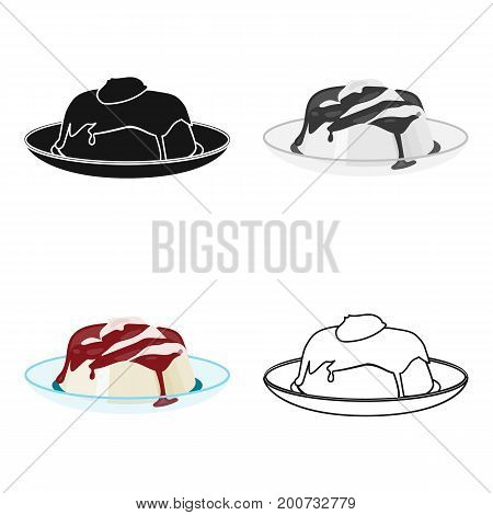 Delicious, creamy-chocolate dessert. Dessert single icon in cartoon style vector symbol stock illustration .