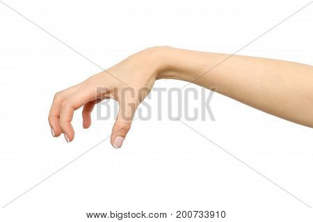 Female Hand Reaching For Something